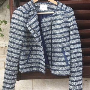 LOFT striped blue & white blazer